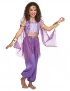 Bauchtänzerin-Kostüm für Mädchen Faschingskostüm lila-gold