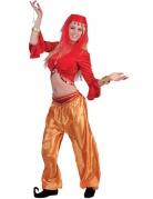 Tänzerin-Oberteil für Damen orientalisches Faschingskostüm rot