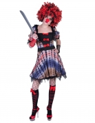 Horror-Clown-Kostüm für Damen Faschingskostüm bunt