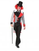 Clown-Jacke Harlekin-Kostüm schwarz-weiss-rot