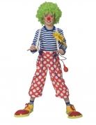 Clown-Hose für Kinder mit Hosenträgern Faschingskostüm rot-weiss