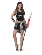 Kriegerin-Kostüm mittelalterliches Kostüm für Damen schwarz