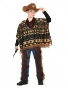 Cowboy-Kostüm für Jungen mit Poncho Faschingskostüm braun