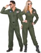 Piloten-Paarkostüm Overall-Partnerkostüm khaki