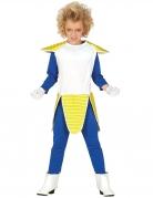 Anime-Bösewicht-Kostüm für Jungen blau-weiss-gelb