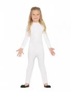 Bodysuit für Kinder Anzug Fasching weiss