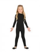 Bodysuit für Kinder Faschingskostüm schwarz