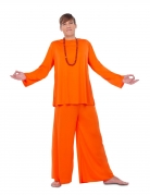 Religiöses Faschingskostüm für Herren Guru Hare Krishna orange