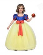 Märchen-Prinzessin-Kostüm für Mädchen Faschingskostüm gelb-blau-rot
