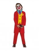 Clown-Anzug für Jungen rot-gelb