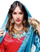 Bollywood-Schmuckset für Damen 4-teilig goldfarben