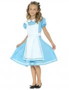 Wunderland-Kostüm für Mädchen Alice Faschingskostüm blau-weiss