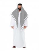 Scheich-Kostüm für Herren Faschingskostüm weiss-grau