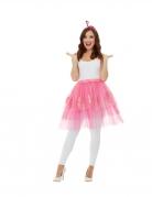 Flamingo-Accessoire-Set für Damen Faschingsaccessoire rosa