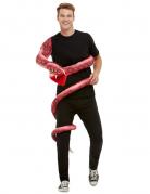 Anaconda-Kostüm witzige Schlangen-Puppe rot