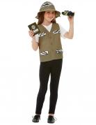 Forscher-Kostüm für Kinder Faschingskostüm olivgrün