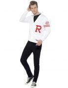 Grease™-Kostüm Rydell High School Faschingskostüm weiss-rot