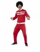 80er Jahre-Kostüm für Herren Trainingsanzug Faschingskostüm rot-weiss