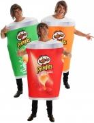 Pringles™-Gruppenkostüm Faschingskostüm grün-rot-orange