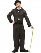 Stummfilm-Schauspieler-Kostüm für Herren Faschingskostüm schwarz