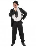 Komiker-Kostüm für Herren 20er Jahre Hardy Faschingskostüm schwarz-weiss