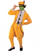 Maskierter Komiker Herrenkostüm Faschingskostüm gelb-weiss