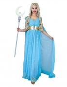 Mittelalterliches Prinzessin-Kostüm für Damen Prinzessin der Herzen Faschingskostüm blau-gold