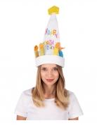 Singender und tanzender Hut Geburtstagstorte Accessoire bunt