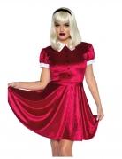 Elegantes Puppenkostüm für Damen rot-weiß