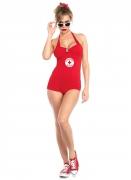 Heiße Rettungsschwimmerin Damenkostüm rot-weiß