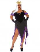 Meereshexe-Kostüm für Damen grosse Grössen Halloween-Kostüm schwarz-violett