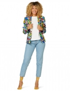 Super Mario™-Jacke für Damen Opposuits™ Faschingskostüm bunt