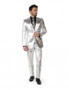 Offizielles Mr. Shiny Silver Kostüm für Herren Opposuits™ silberfarben