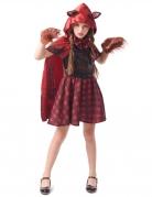 Rotkäppchen-Werwolf-Kostüm für Mädchen Halloween-Kostüm rot-schwarz