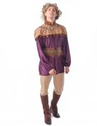 Mittelalterliches Prinz-Kostüm für Herren Faschingskostüm violett-braun