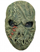 Vogelscheuche-Horrormaske für Erwachsene Halloween-Maske beige-grün