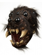 Spinnenkopf-Maske Halloween-Maske schwarz-beige