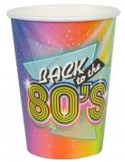 80er Jahre Papp-Becher Partydeko 10 Stück bunt