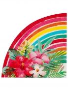 Exotische Tropen-Servietten Aloha 20 Stück bunt 33 cm