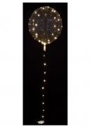 Leuchtender LED-Luftballon weiß-transparent 25-30 cm