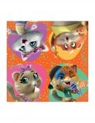 44 Cats™-Papierservietten 16 Stück bunt 33 x 33 cm