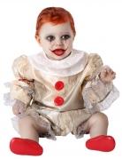 Gruselclown-Kostüm für Babys Halloweenkostüm beige-rot