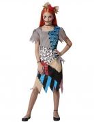 Voodoo-Puppe-Kostüm für Mädchen Halloweenkostüm bunt