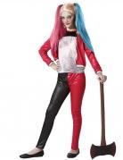 Verrücktes Superheldin-Kostüm für Mädchen Halloweenkostüm blau-schwarz-rot