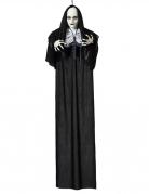 Nonnen-Dekoration mit Leuchteffekt Hängedeko Halloween schwarz-weiss 120 cm