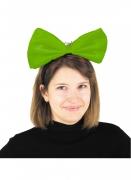 Riesen-Haarschleife für Damen Kostümzubehör neongrün