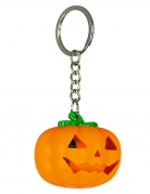 Kürbis-Schlüsselanhänger mit Leuchteffekt Halloween-Accessoire orange