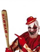 Aufblasbarer Baseballschläger für Erwachsene Psychoclown-Accessoire braun-rot 75 cm