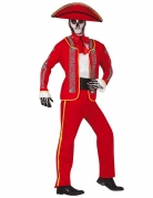 Día de los Muertos-Kostüm für Herren Torero Halloweenkostüm rot-weiss-schwarz