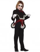 Horror-Kostüm für Kinder mit Dreirad Halloween-Kostüm schwarz-grau
